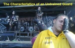 Unprofessional security guards
